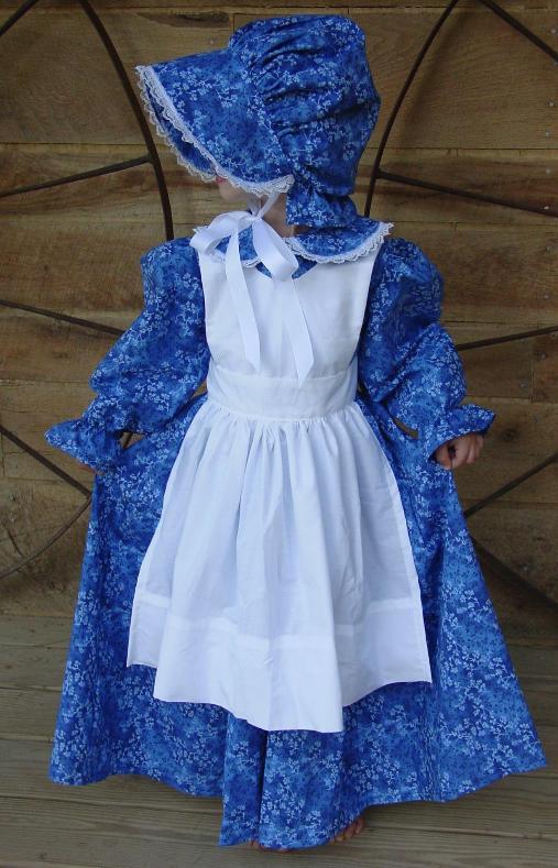 Williamsburg Historical Handmade Costume Dress~Royal Pioneer~ Child Size 4 to 14